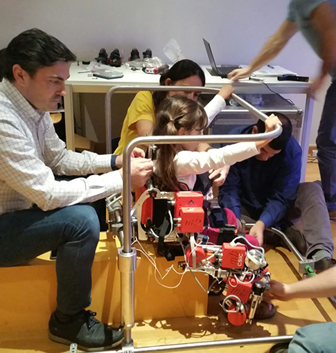Ensayos exoesqueleto Centro Ortopédico Valencia David Torrijos